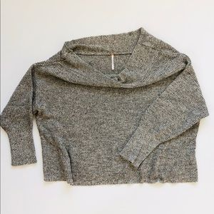 Free People Off The Shoulder Knit Crop Sweater